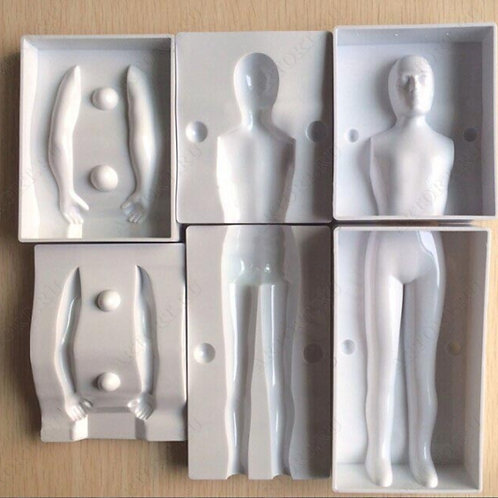 Форма пластиковая д/тела мужчины h21 см