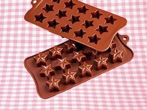 Форма силиконовая д/шоколада 028 d21*10,5 мм ЗВЕЗДА