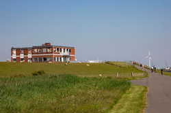 The burned out Nordsee hotel