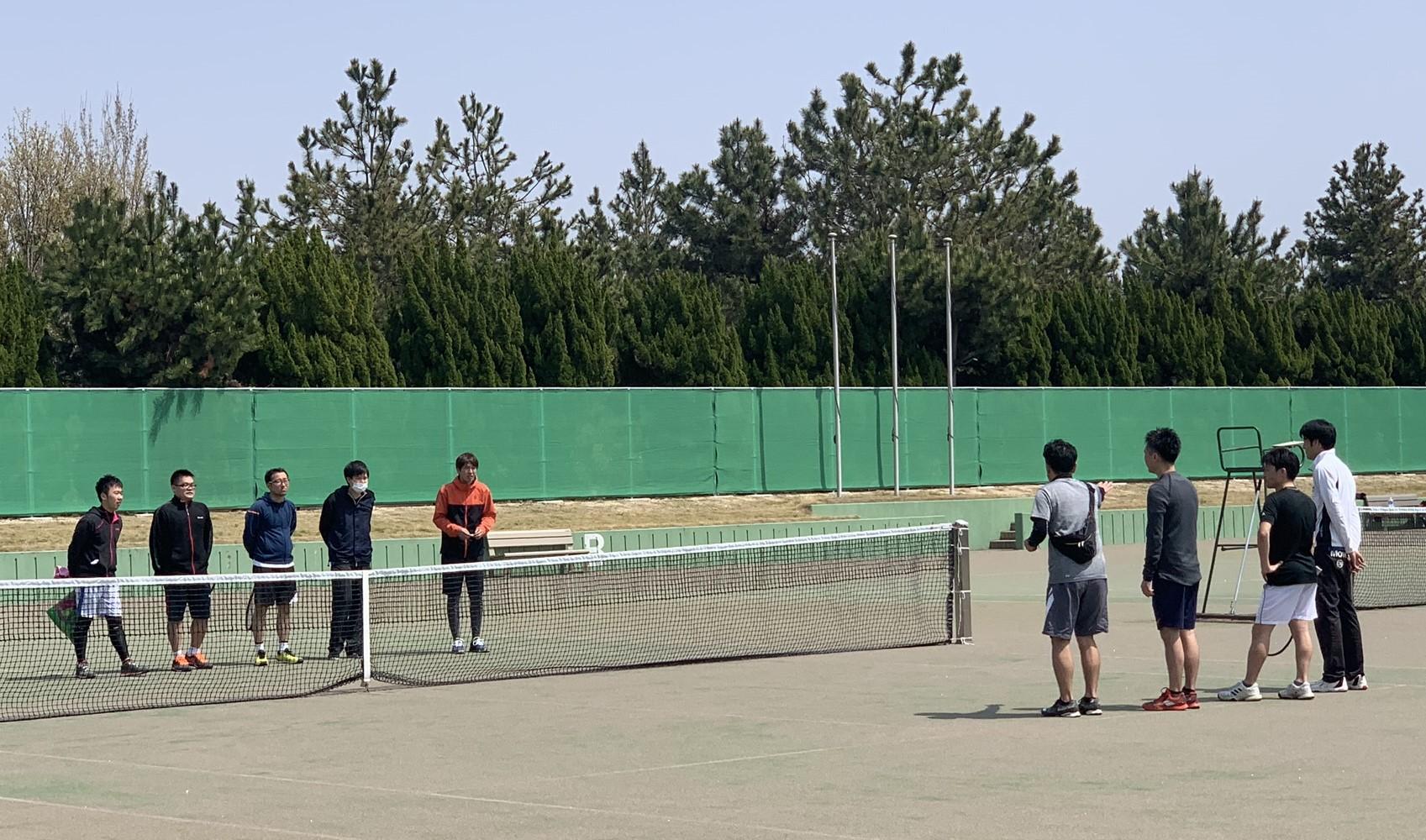 2019団体戦 0407海浜公園04 撮影:明石市テニス協会
