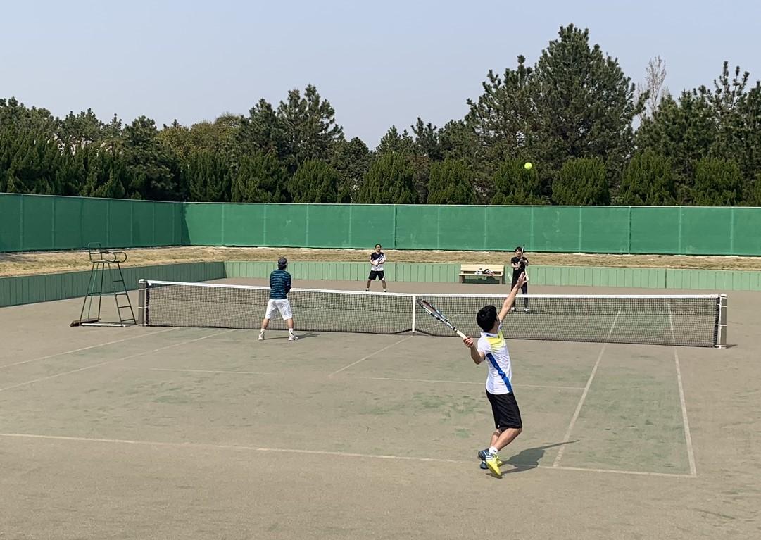 2019団体戦 0407海浜公園05 撮影:明石市テニス協会