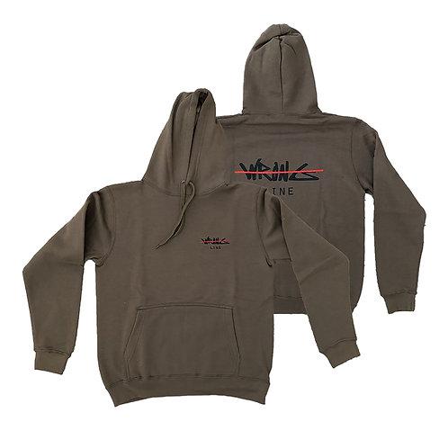 Army green WL logo hoodie