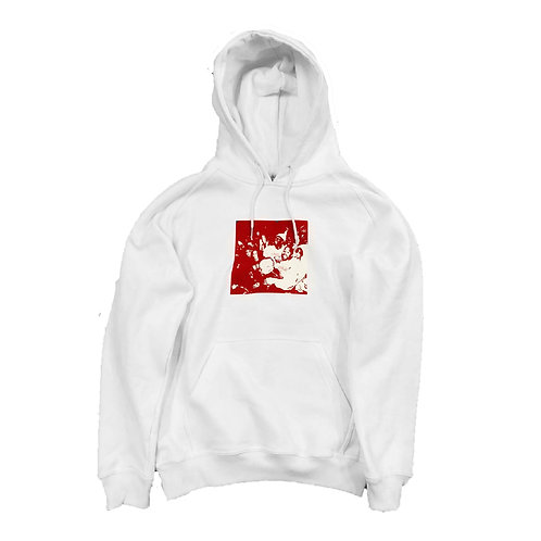'crowd' White hoodie