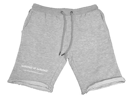 'WRONG IS WRONG' sweater short