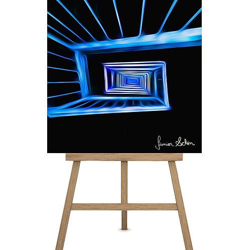 Escadarias Azul 3D 130x130 cm