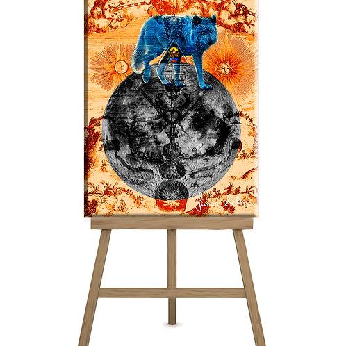 Hermes Wolf Moon 130x100 cm