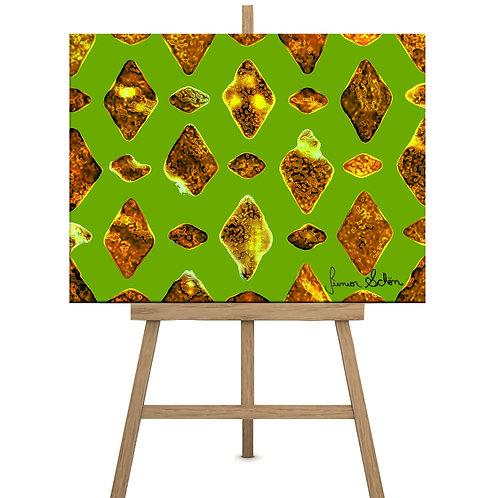 Gold diamonds  130x100 cm