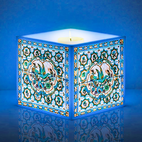 Luminária de Vela Azulejo Português