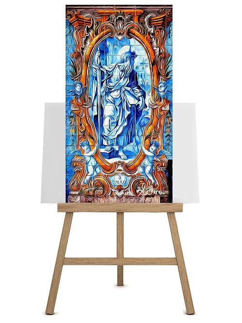 Apóstolo Paulo e Anjos  170x90 cm