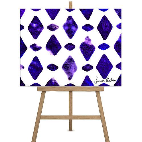 Purple Diamonds 130x100 cm