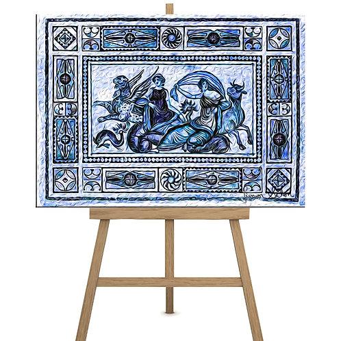 Mosaico Mitologia Grega  130x100cm