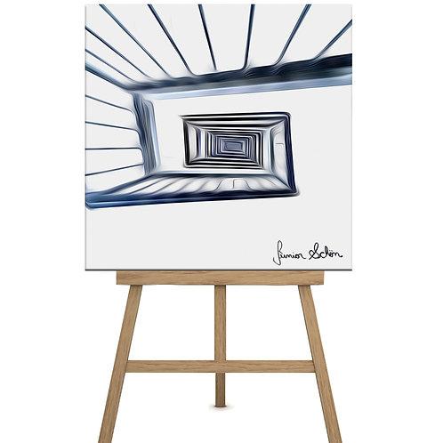 Escadarias Branca e Azul 3D 100x100 cm