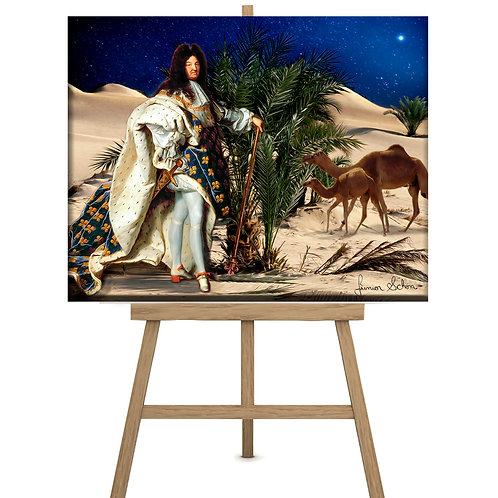 Louis XIV and Camels 130x100 cm