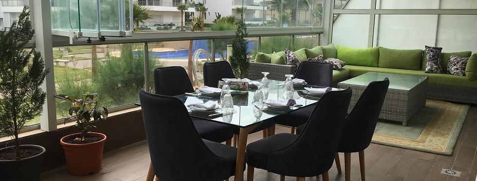 DAR BOUAZZA - Appartement meublé avec immense terrasse couverte