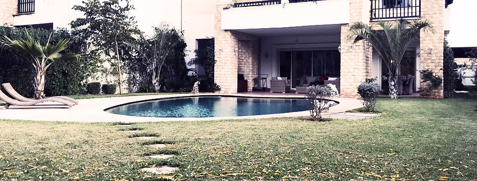 DAR BOUAZZA Incredible high-end furnished villa, 1200 m2 garden for sale