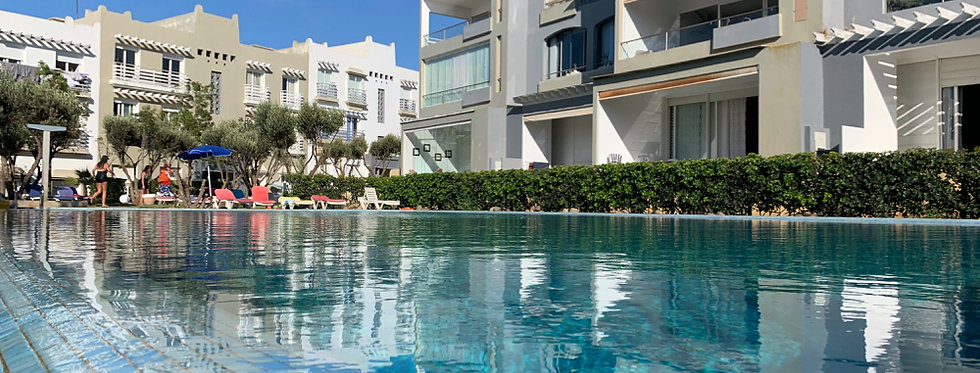 DAR BOUAZZA - Appartement 2 chambres dans résidence avec 3 piscines