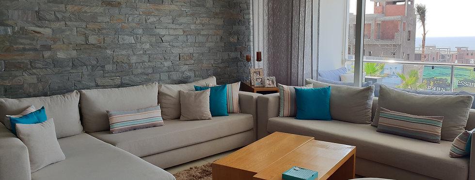 DAR BOUAZZA Appartement meublé à louer résidence Melrose