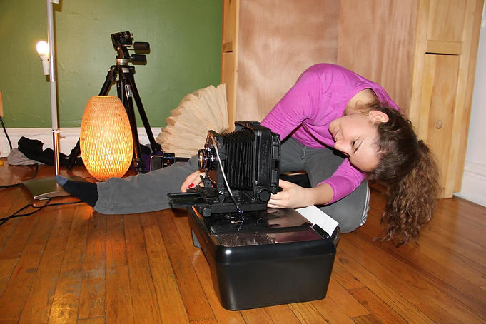 Kristina Zaidner Photography's First In-Home Studio - Shooting 4 x 5 / Large Format