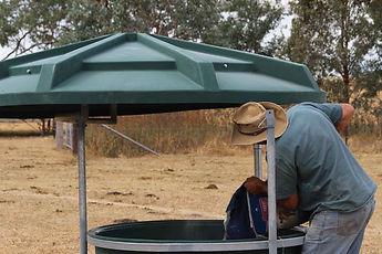 PBA Feeds mineral feeder being refilled