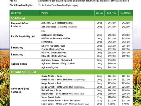 2020/21 Summer Seed Variety Guide now available