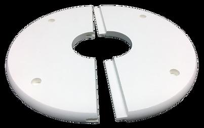 Armourline food safe split flange for pipe penetration