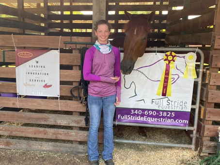 Adelee takes 3rd at Area V Eventing Championships!!!!
