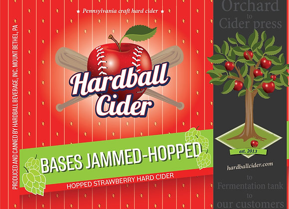 BASES JAMMED (with PEACH)- Strawberry/Peach Cider Growler