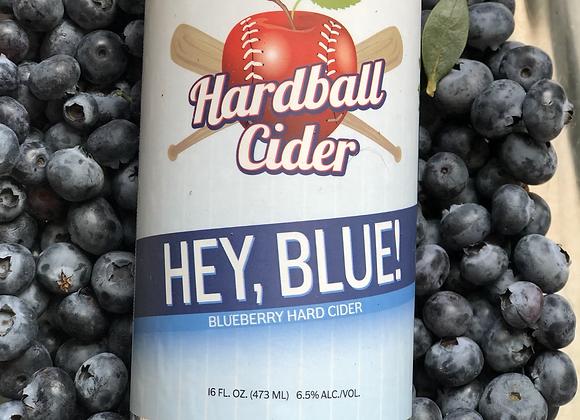 HEY BLUE! Blueberry cider(32oz glass growler)