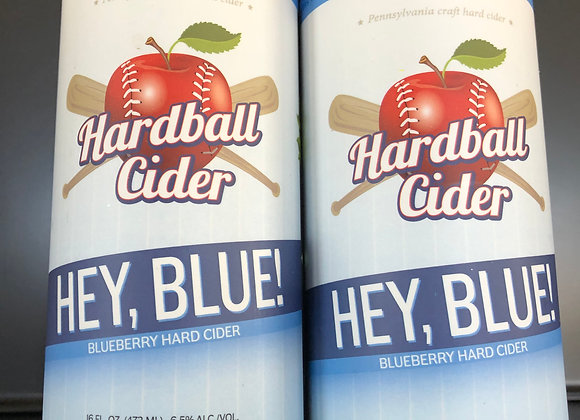HEY BLUE- Blueberry Cider (4pack 16oz cans)
