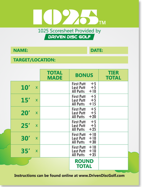 1025 Disc Golf Game