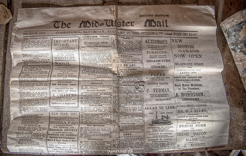 The Mid-Ulster Mail from 1917
