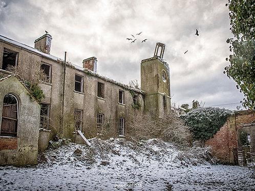 Front View of Abandoned Irish Boarding School