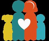 gezin met 2 kinderen en hartje (multi 50
