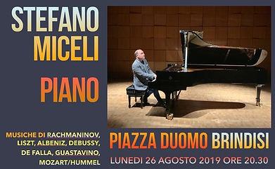 Stefano Miceli in Duomo Square, Brindisi