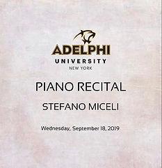 Stefano Miceli at Adelphi, NY