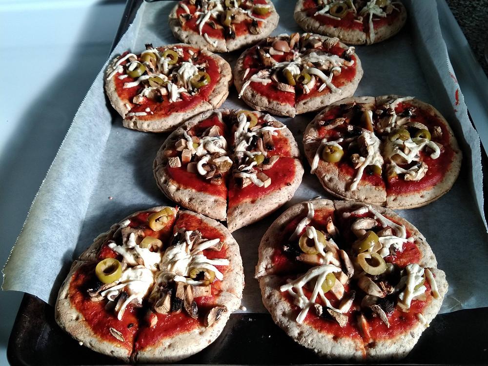 Make your own vegan frozen pizzas