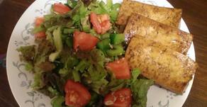 Simple Salad with Maple Balsamic Tofu