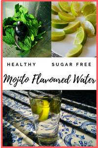 Healthy and sugar-free Mojito Flavored Water