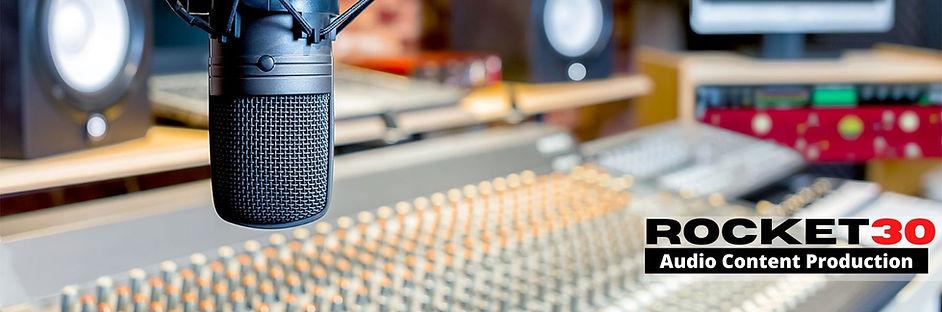 Audio Content Production Banner