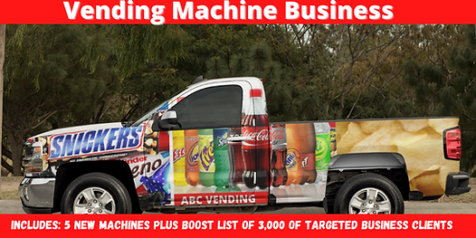 Vending machine business for sale-banner