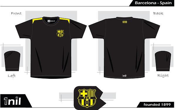 Barcelona retro football shirt