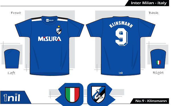 Inter Milan 1989 - No.9 Klinsmann