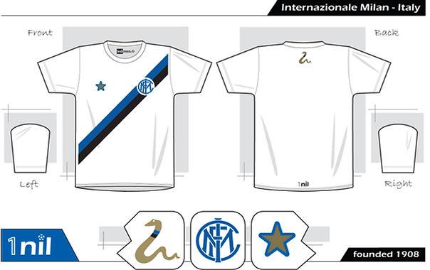 Inter Milan retro football shirt