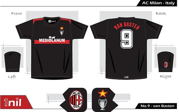 AC Milan 1990- Mediolanum No.9 van Basten