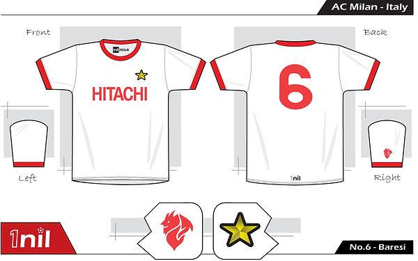 AC Milan 1982 - Hitachi No.6 Baresi