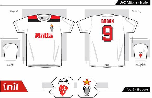 AC Milan 1994 - Motta No.9 Boban
