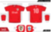 Benfica retro football shirt