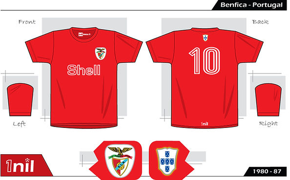 Benfica retro football shirt