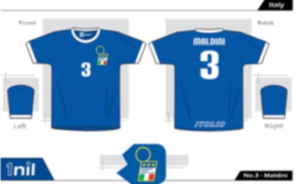 Italy 1996 - No.3 Maldini