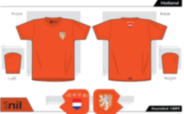 Holland retro football shirt